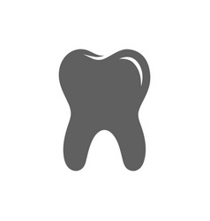tooth silhouette vector image
