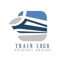 train logo original design railway transport vector image