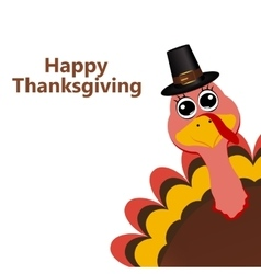 Turkey in hat on Thanksgiving Day vector
