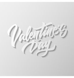 Valentines Day Lettering Badge vector