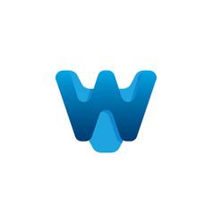 w letter logo design template vector image