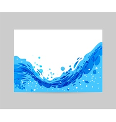 Wave background brochure design vector image