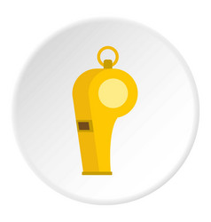 Whistle of refere icon circle vector