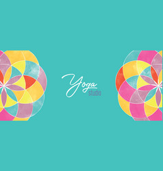 yoga studio banner abstract mandala flower vector image