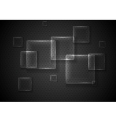 Abstract transparent glass squares vector image