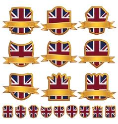 British emblem shields vector image vector image