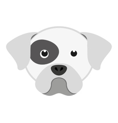 cute dog head isolated icon design vector image