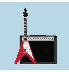 Guitar amplifier guitar vector image