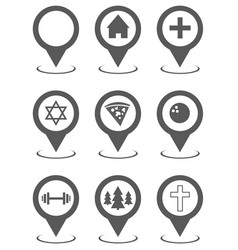 map pointer set collection simple vector image
