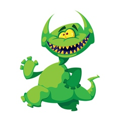 monster smile vector image vector image
