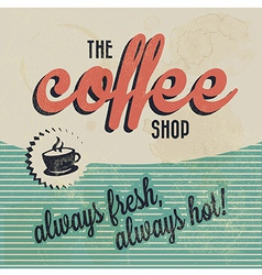 Retro Vintage Coffee Background with Typography vector image vector image