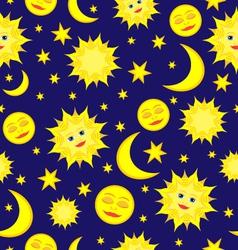 sun moon pattern vector image