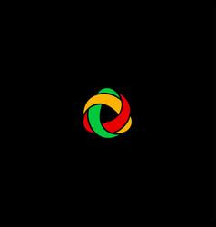 three color logo vector image