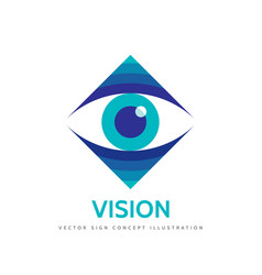vision logo template concept vector image vector image