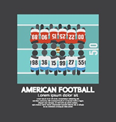 American Football Players Top View vector image vector image