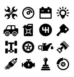 Auto Repair Service Icons vector image