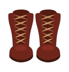 boots fashion isolated icon design vector image vector image