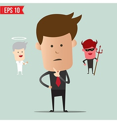 Business man select choice - - EPS10 vector image vector image