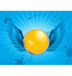 disco party shield vector image vector image
