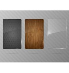 Metal wood and glass framework vector image vector image