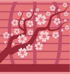 sakura japan cherry branch tree with vector image