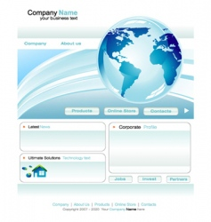 business web site template vector image