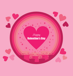 happy valentines day festive background vector image vector image