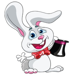 hare magician on a white background vector image vector image