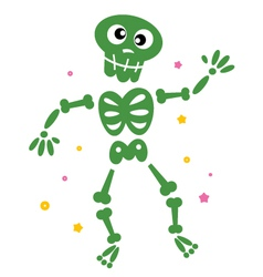 skeleton cartoon vector image