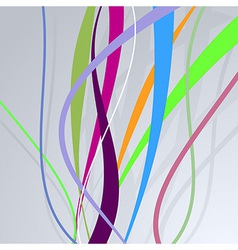 Colorful bright lines over blue wall vector image