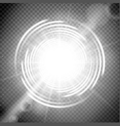 cosmic light effect with trasparency vector image