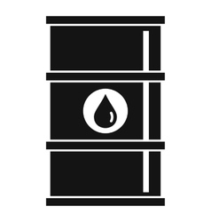 Oil barrel icon simple style vector