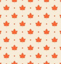 Retro seamless pattern Orange maple leaves vector image