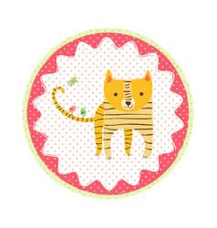 tiger badge vector image