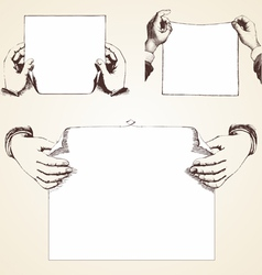 Vintage Hands vector image