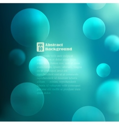 Abstract background with bubbles vector image vector image
