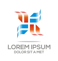 Abstract design element icon vector
