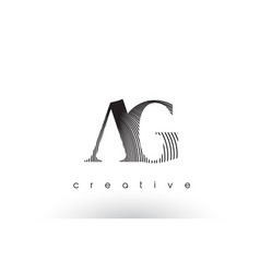 ag logo design with multiple lines and black and vector image