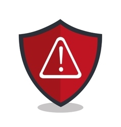 Alert shield isolated icon design vector