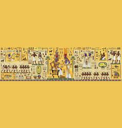 Ancient egypt backgroundegyptian hieroglyph vector