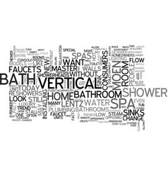 bathrooms that make you go ahhh text word cloud vector image