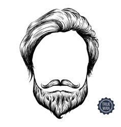 Bearded man icon vector