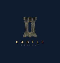 beautiful castle logo design templatekingdom icon vector image