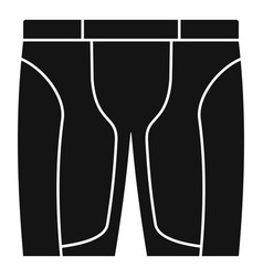 Bike shorts icon simple style vector