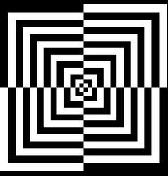 black and white squares vector image