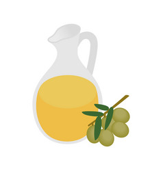 Bottle of olive oil icon in isometric 3d style vector image