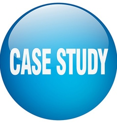 Case study blue round gel isolated push button vector