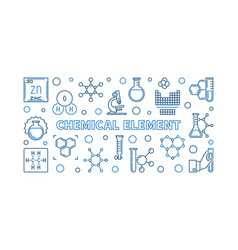 chemical element concept outline minimal vector image