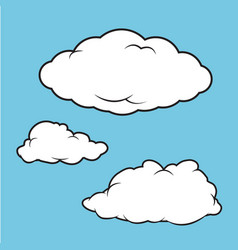 Clouds puffy collection vector