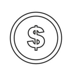 Coins money dollar isolated icon vector